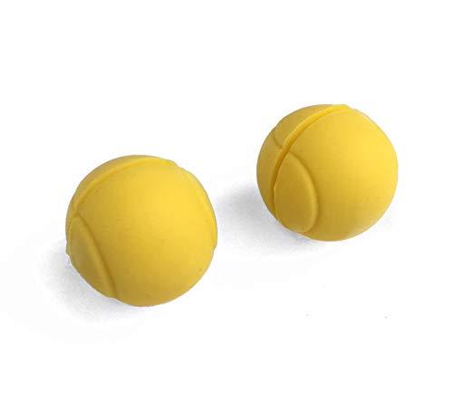 4MA Tennis Dämpfer 2er Set Tennisball gelb, Tennisdämpfer im 3D Tennisball Design