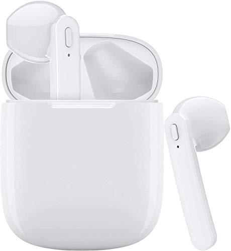 Bluetooth-Kopfhörer, Kabellose Kopfhörerr IPX7 wasserdichte, Noise-Cancelling-Kopfhörer, Geräuschisolierung,mit 24H Ladekästchen und Mikrofon für Android/iPhone/Samsung/Huawei