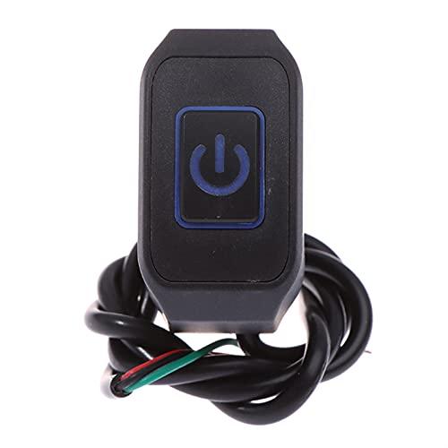 Controla el Interruptor de la luz 22 mm 7/8 '' Motorcycle Manillar Switch Totmy Buttton para la Estrella eléctrica Mata al Control Impermeable con el Control DIRIGIÓ luz para manillares