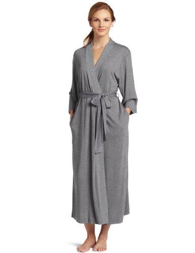 Natori Women's Shangri-la Solid Knit Robe, Heather Grey, X-Large