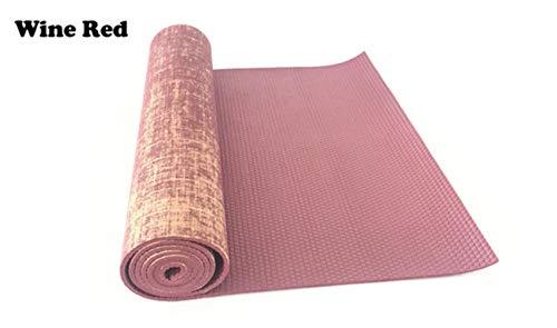 5MM Jute Yoga Mat 183 * 61 cm linnen mat Acupressure Mat Yoga apparatuur Yoga slip gezond gymnastiek,zoals,rode wijn