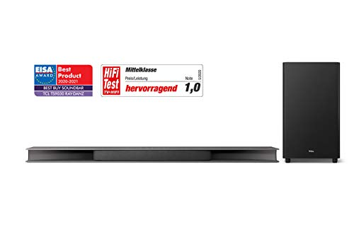 TCL TS9030 3.1CH RAY DANZ Soundbar for TV with Wireless Subwoofer (Bluetooth...