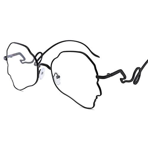 WOJING Gafas De Gran Tamaño Mujeres Hombres Vintage Gafas Gafas Gafas Marco Transparente Lente Gafas Gafas Marco Unisex