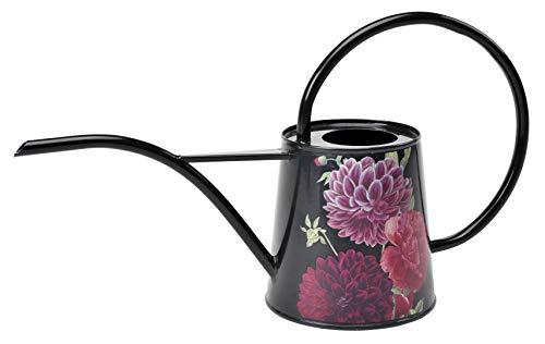 Burgon & Ball Gießkanne für den Innenbereich, 1 Liter, Leicht, im British Bloom Design mit Pfingstrosen und Dahlien, Gießkanne mit langem Ausguss