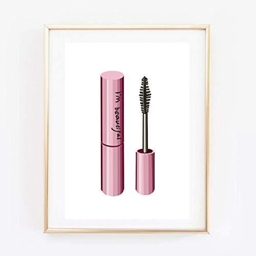 Din A4 Kunstdruck ungerahmt - I'm beautiful Lashes Mascara Wimperntusche Wimpern Beauty Salon pink...