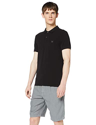 BOSS Casual Herren Poloshirt Prime 10203439 01, Schwarz (Black 1), X-Large