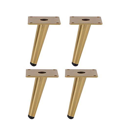 AWCPP 4 piezas de patas cónicas de acero inoxidable para muebles, patas de sofá, mesita de noche, patas de mesa de centro, patas de muebles, patas de gabinete de televisión, piezas de muebles de bric
