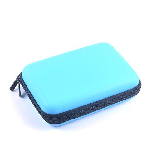Cocar Starke Tragetasche Reisetasche für Mini Pico Projektor und Zubehör Organizer Multifunktions- Blau