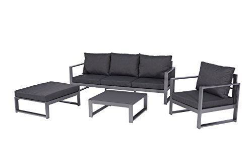 Mandalika Garden Aluminium Lounge Bella Anthrazit, flexibel einsetzbar mit wasserabweisender Kissen