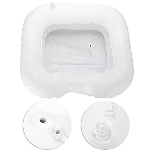 Bassin gonflable de shampooing, outil portatif de lavage de cheveux d'aide Aidez les cheveux dans le lit facilement avec le gonflage de valve d'air pour le blessé, la personne âgée, handicapée