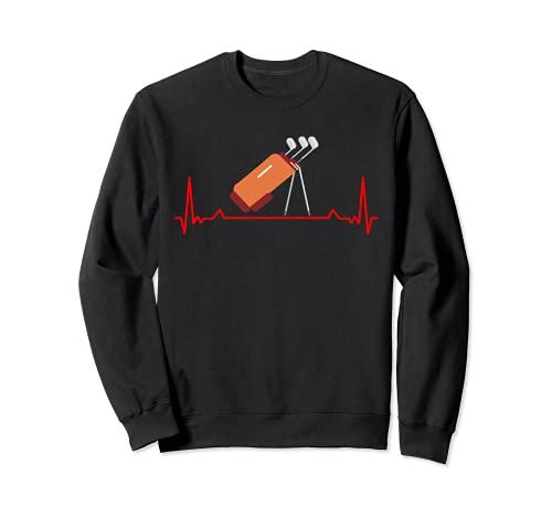 Ekg Heartbeat Pulse Line Sac de golf amusant pour golfeur Sweatshirt