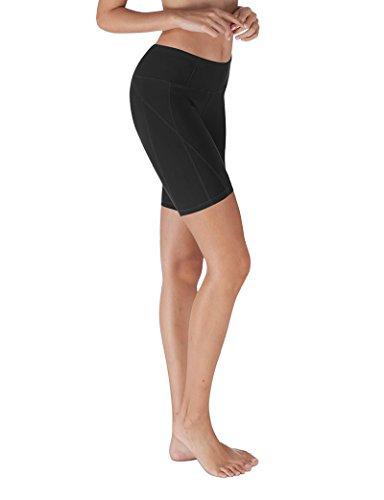 YOGARURU - Yoga Shorts For Women - Workout Yoga Short - Hidden Pocket (From XS To 3XL), Black, L