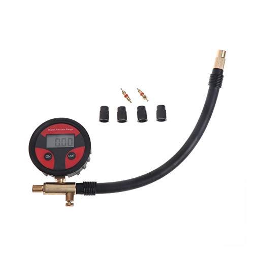 shiqi 0-200PSI Neumático Digital Neumático Aire Calibrador de presión LCD Manómetro Camión de Coche Motocicleta