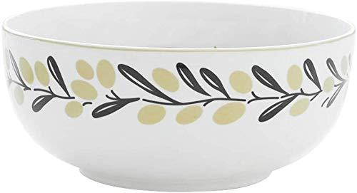 Apparence de la mode créative soupe Bowls Vaisselle Pièces Grand bol ménages rond blanc Bowl Ramen Bowl nouilles instantanées Petit déjeuner Bowl déjeuner Bowl Bowl des aliments (Couleur: Blanc, Taill