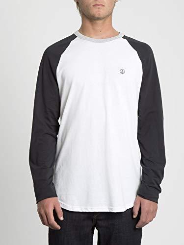 Volcom Pen BSC LS Camiseta De Manga Larga, Hombre, Black, M