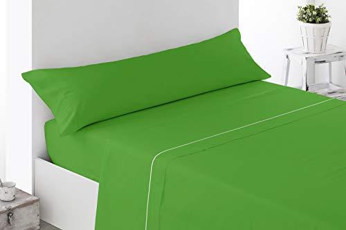 ENERGY COLORS TEXTIL - Excellent 135 - Juego SÁBANAS Completo 3 Piezas Verano Cama 135 x 190-200 cm (Verde)
