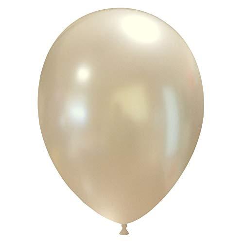 eventkauf 50 kleine Luftballons metallic/Pastell (Farbe wählbar) (Perl, metallic)