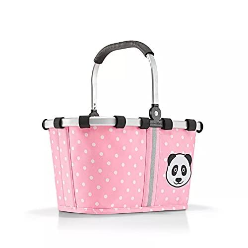 Reisenthel carrybag XS Kids Panda Dots Pink Einkaufskorb für Jungen und Mädchen aus wasserabweisendem Polyestergewebe mit 5 Liter Volumen - Maße (B x H x T in cm): 33,5 x 18 x 19,5