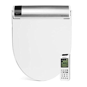 Bio Bidet BB2000 Round White Bidet Smart Toilet Seat | Self Cleaning Hydroflush | Hybrid Heating | Wireless Remote Control | Nightlight | Vortex Wash
