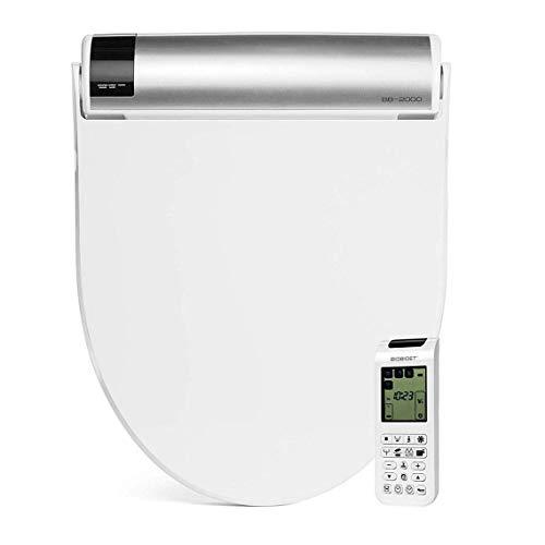 Bio Bidet BB2000 Round White Bidet Smart Toilet Seat   Self Cleaning Hydroflush   Hybrid Heating   Wireless Remote Control   Nightlight   Vortex Wash