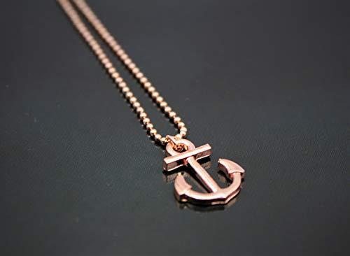 Halskette Kette Schiff Anker Anhänger Rosegold Farbe Boho Rose Gold Maritim