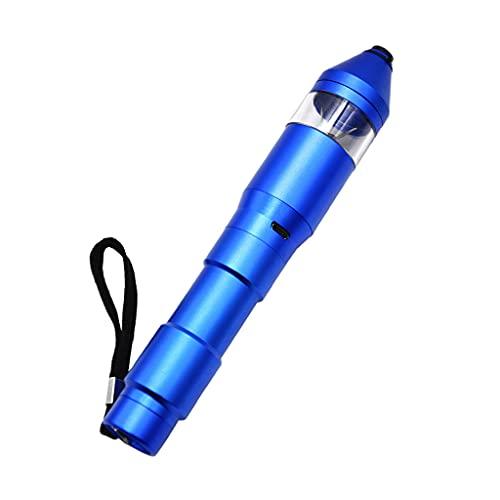 MagiDeal Molinillo de Hierbas Eléctrico Dispensador de Vidrio Transparente Ventana para Tabaco de Especias de Hierbas - Azul