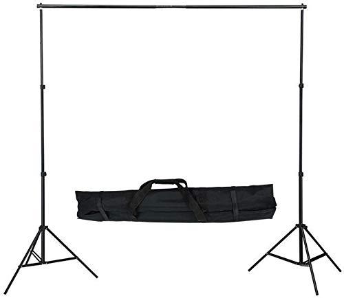LARS360 Fotostudio Ständer Set Hintergrund Ständer 2.1M x 3M/7ft x 10ft mit Tragetasche Querstangen Sandsack 4er Klemmzwingen Backdrop Stand für Muslins Hintergrund, Papier and Canvas