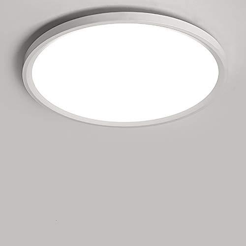 Yafido LED Lámpara de Techo Moderna 28W Plafón Led Redonda Ultra Delgado Downlight Blanco Natural 4500K 2520LM adecuada para Cocina Balcón Dormitorio Corredor Sala de Estar Ø30cm