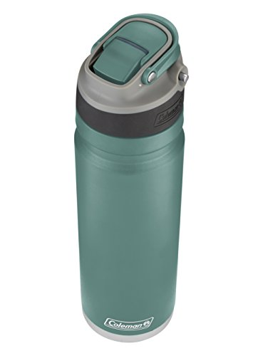Coleman Switch AUTOSPOUT Insulated Stainless Steel Water Bottle, Seafoam, 24 oz.