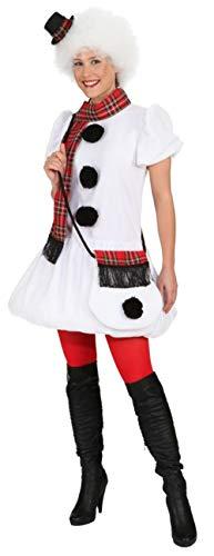 Kleid Schneefrau, Erwachsenen-Größe:44/46