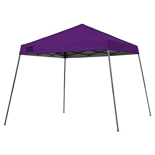 Quik Shade Expedition 10 x 10-Foot Instant Canopy Slant Leg Outdoor Tent with 64 Square Feet of Shade for 4-6 People - Purple, Model:160720