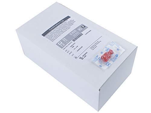 100 Kombistopfen Verschlußstopfen einzel steril verpackt Rot
