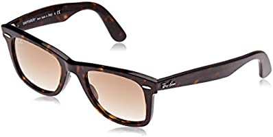 Ray-Ban WAYFARER - TORTOISE Frame CRYSTAL BROWN POLARIZED Lenses 50mm Polarized