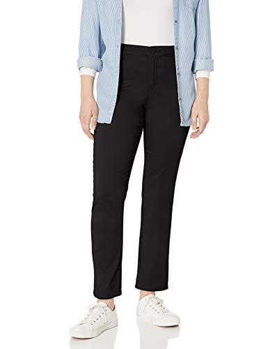 Gloria Vanderbilt Women's Anita Straight Leg Pant, Black, 10 Short