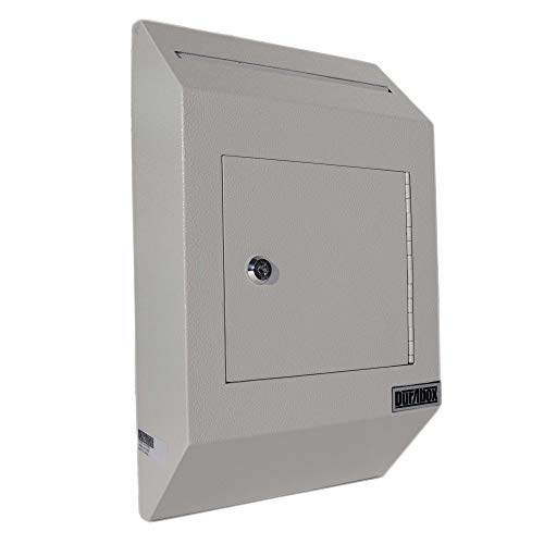 DuraBox Wall Mount Locking Deposit Drop Box Safe (W300) (Grey)