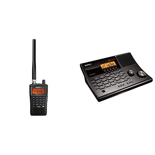 Uniden SR30C Bearcat, 500-Channel Compact Handheld Scanner, Close Call RF Capture Technology, Turbo Search, PC Programming & BC365CRS 500 Channel Scanner and Alarm Clock with Snooze