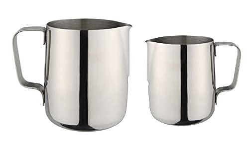 Dynore Stainless Steel Milk Jug- Set of 2 600/800 ML