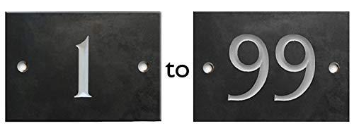 Numbers & Names by Atlantic Hardware - Placa de número para casa (selección entre el 1 y el 99)