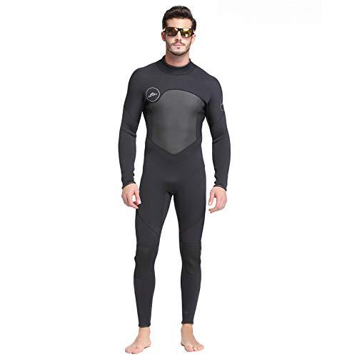 SNOWINSPRING Traje de Neopreno de 3 Mm para Hombre Costura de Alta Elasticidad Equipo de Buceo CáLido para Surf Traje de Neopreno de Manga Larga M