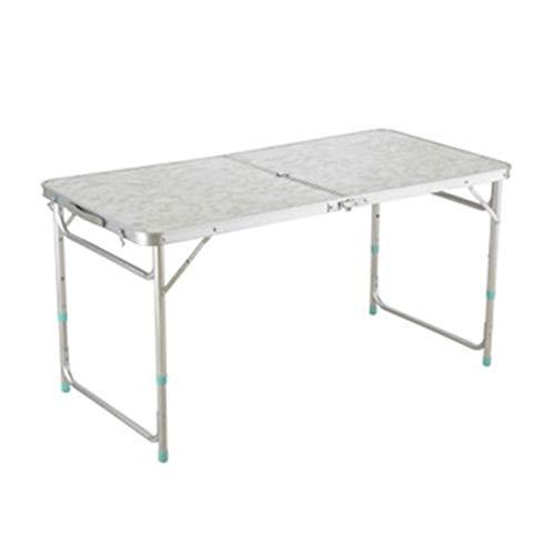 HLRY Al Aire Libre Plegable Mesa de Camping aleación de Aluminio de la Tabla de Picnic Impermeable Ultraligera Duradero Mesa Plegable Desk for Picnic (Color : Ivory)