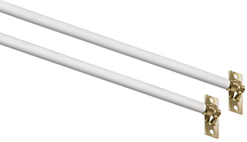 Kenney Manufacturing Company Kn639/1 11 - 19 White Swivel End Sash Rod With Brass Tip 2 Pack