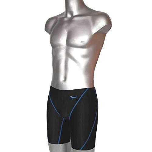 Tyron Master Line Tight FINA (blau - S) | | Badehose für Herren & Jungen | Schwimm Training und Wettkampf | Jammer | Tight | knielange Schwimmhose