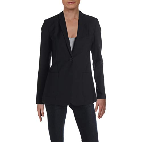 Elie Tahari Womens Wendy Suit Separate Business One-Button Blazer Black 6