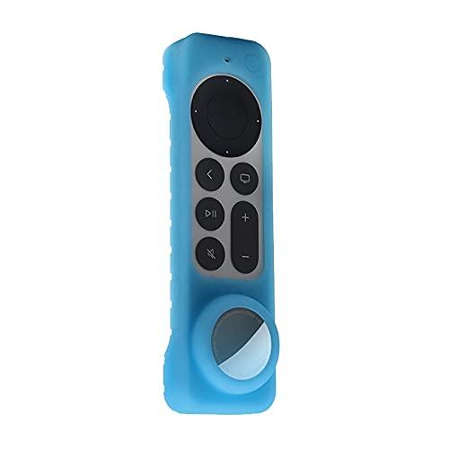 Freljorder para Apple TV4k 2021 Control Remoto Dispositivo AirTag Cubierta Protectora 2 en 1