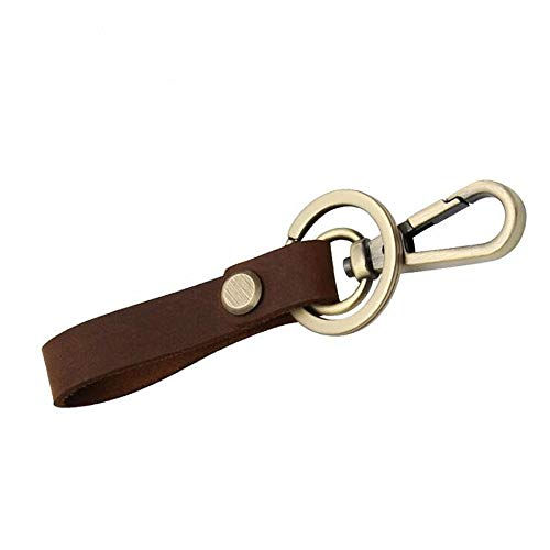 Haowenzhen Schlüsselanhänger, Retro, originell, handgefertigt, kreativ, modisch, personalisierbar, Braun - braun - Größe: S