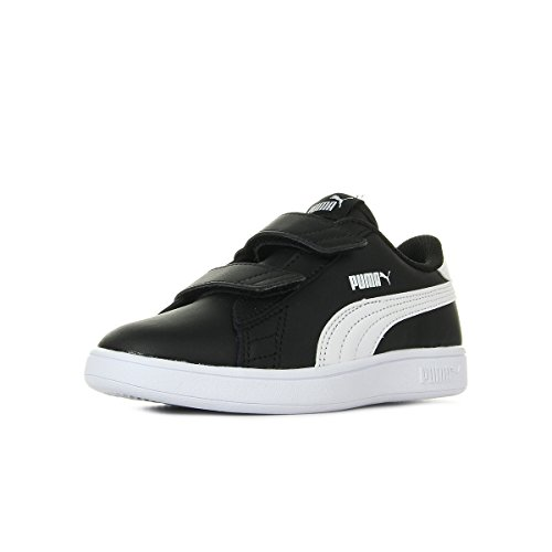 PUMA Unisex Baby Smash v2 L V Inf Sneaker, Black White, 27 EU