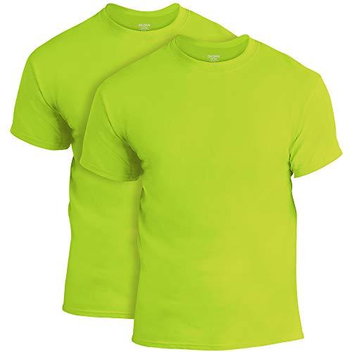Gildan Men's DryBlend T-Shirt, Style G8000, 2-Pack, Safety Green, Large