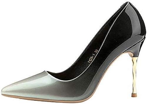 FLYRCX Stiletto Pointu avec Talons de Couleur dégradée, Chaussures de soirée, Chaussures de soirée