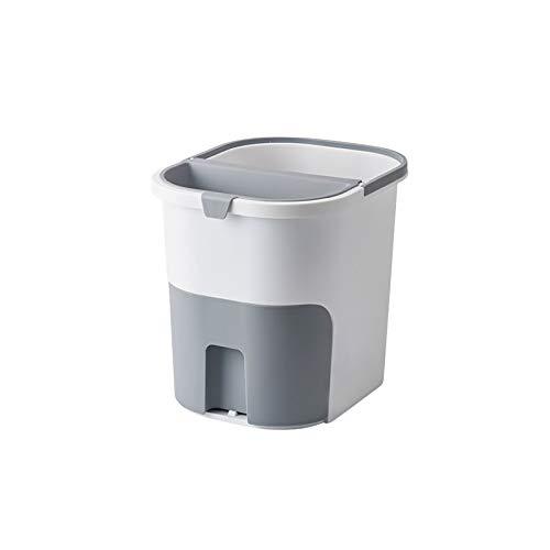 Lpiotyuljt Cubo Basura Reciclaje, Las latas de Basura se Pueden Colocar en el Material PP de la Cocina Puede ser una Basura ordenada de Basura. (Color : Gray)