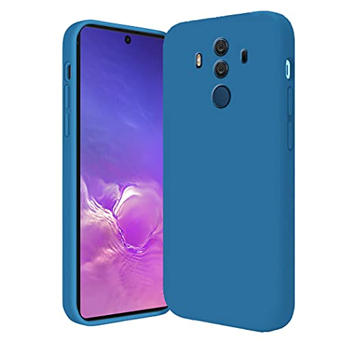 Smartphone Cover Compatibile con Huawei Mate 10 Pro, Custodia in Huawei Mate 10 Pro Morbido Silicone Case, Posteriore Antiscivolo Sottile Skin Caso, Verde (Blu scuro, Huawei Mate 10 Pro)